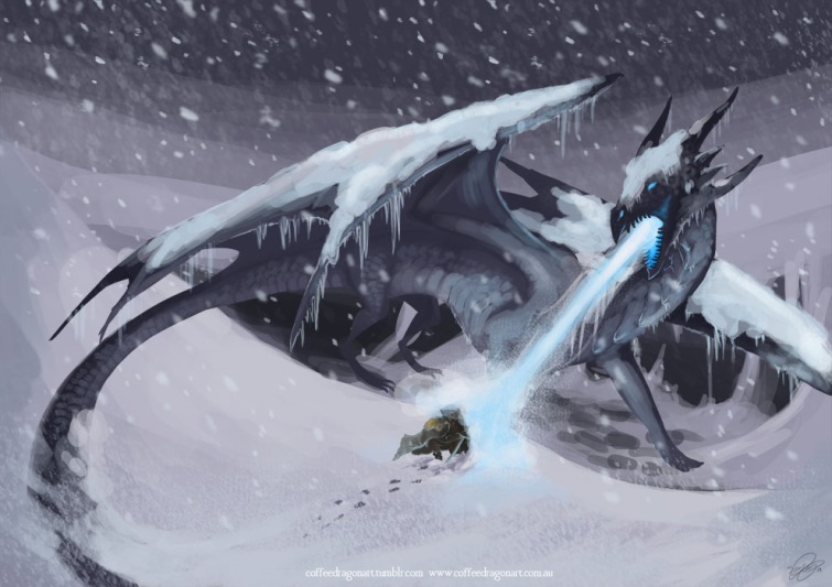 Ice Dragon by theCoffeeDragon